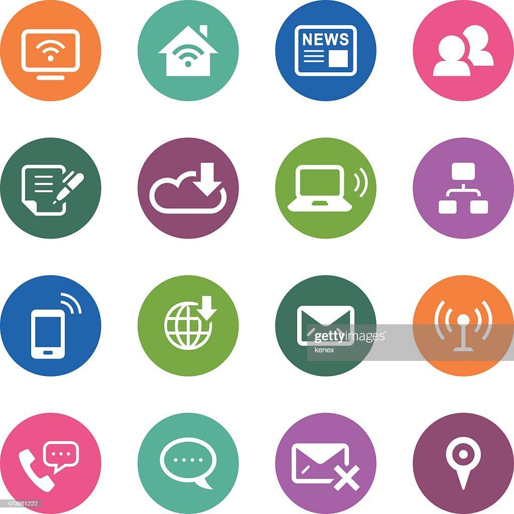 Circle Icons Series   Communication