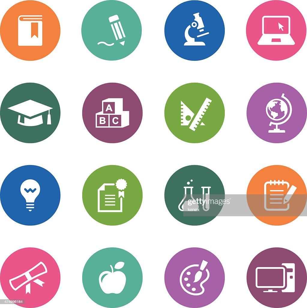 Circle Icons Series | Education