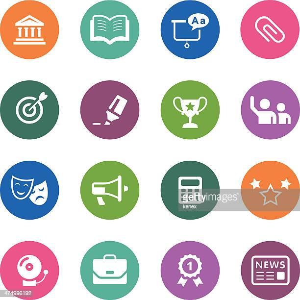 Cercle des icônes série/éducation