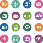 Circle Icons Series | Media