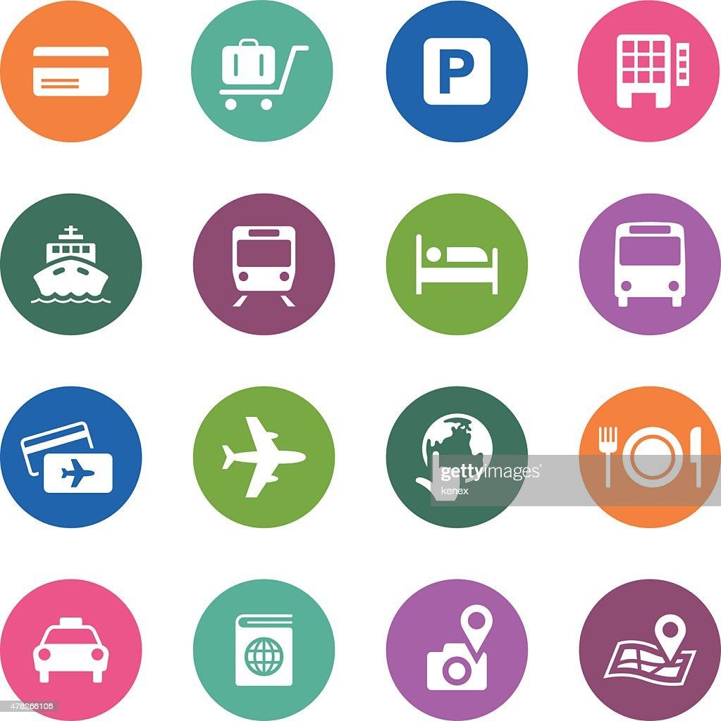 Circle Icons Series   Travel