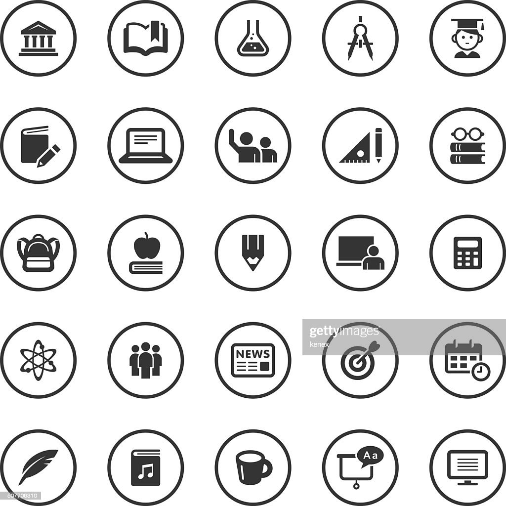 Circle Icons Set | Education