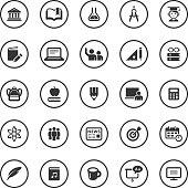 Circle Icons Set   Education