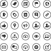 Circle Icons Set   Social Media