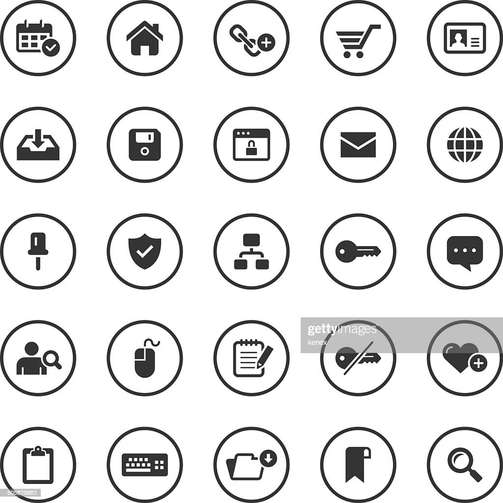 Circle Icons Set | Web & Internet
