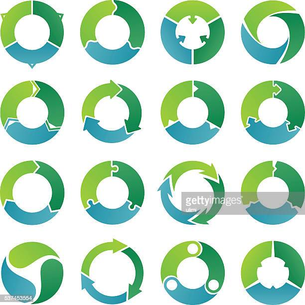 circle infographic. 3 steps. - three objects stock illustrations