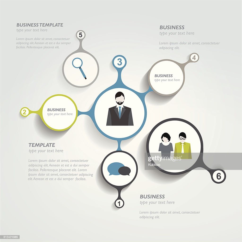 Circle infographic chart. Vector template.