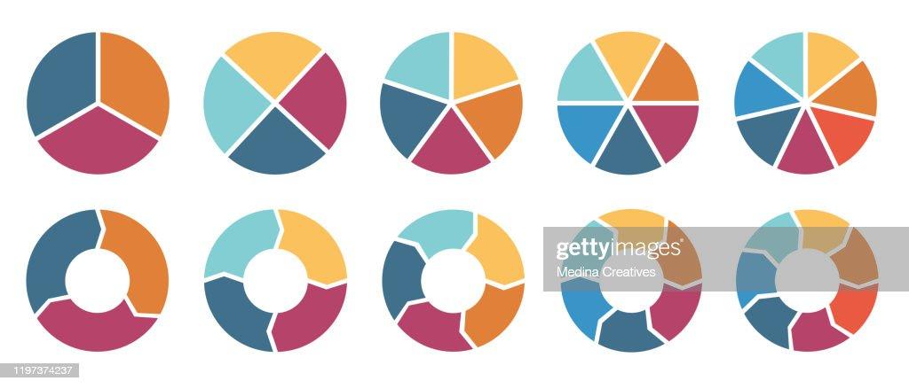 Circle infographic : stock illustration