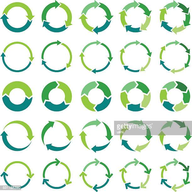 circle infographic - three objects stock illustrations