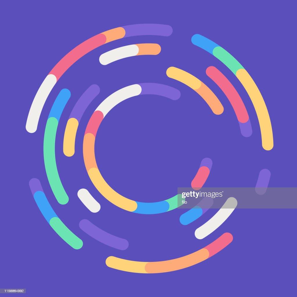 Sfondo astratto rotondo che carica il cerchio : Illustrazione stock