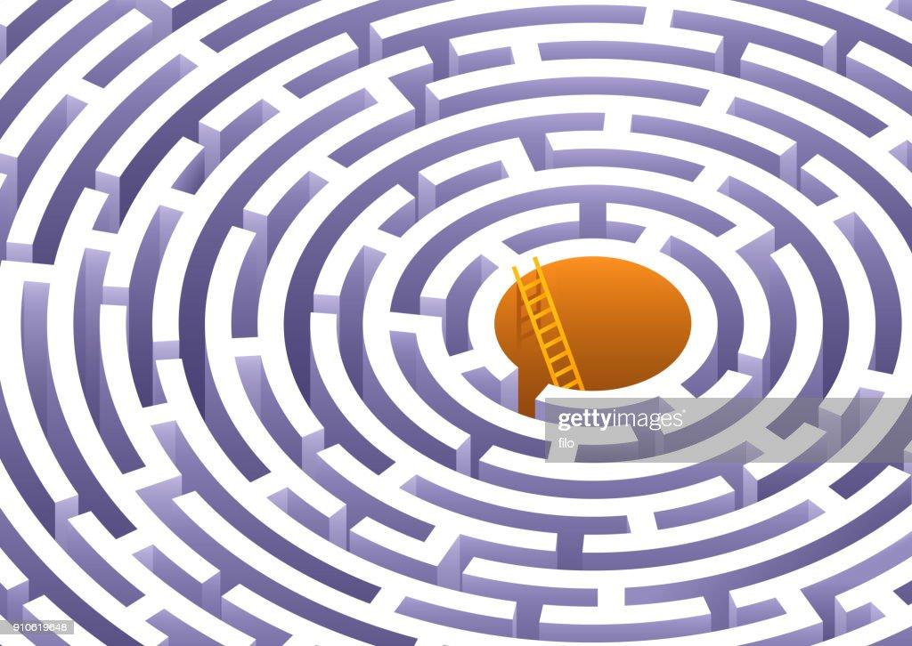 Labirinto circolare : Illustrazione stock