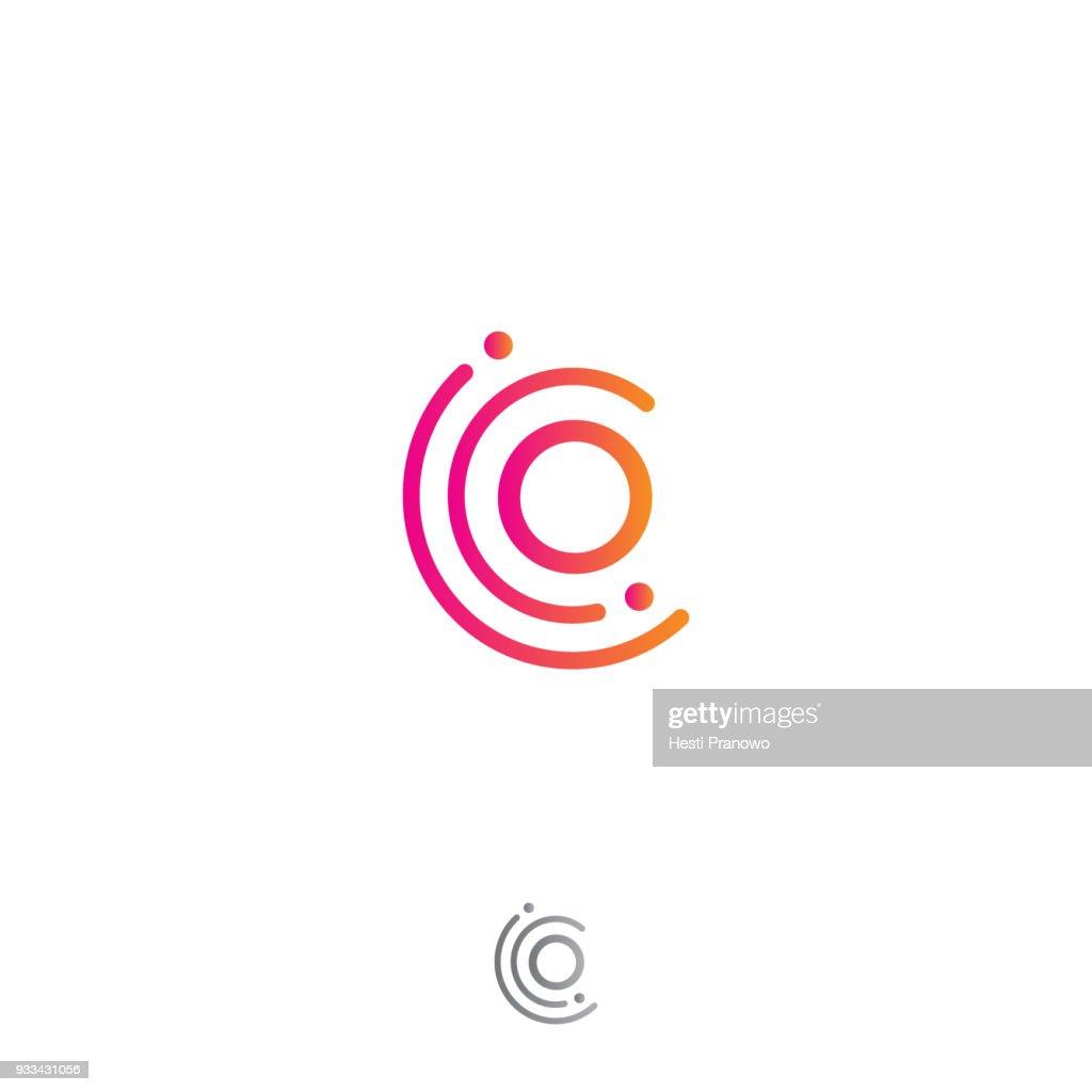 Circle o letter vector concept design