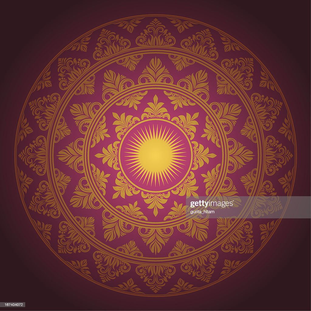 Circle Ornament Decorative : Vector Art