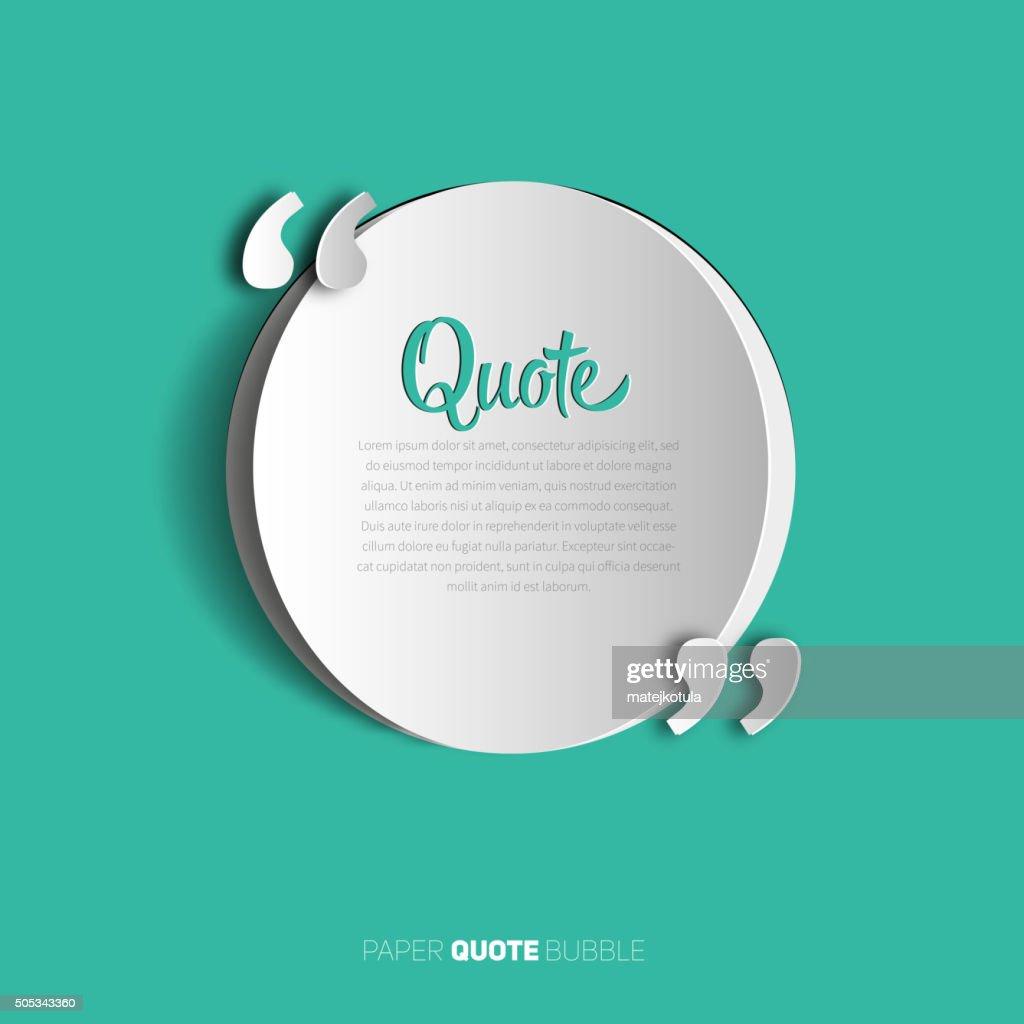 Circle papercut Quote text bubble