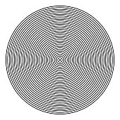 Circle pattern. Lines texture.
