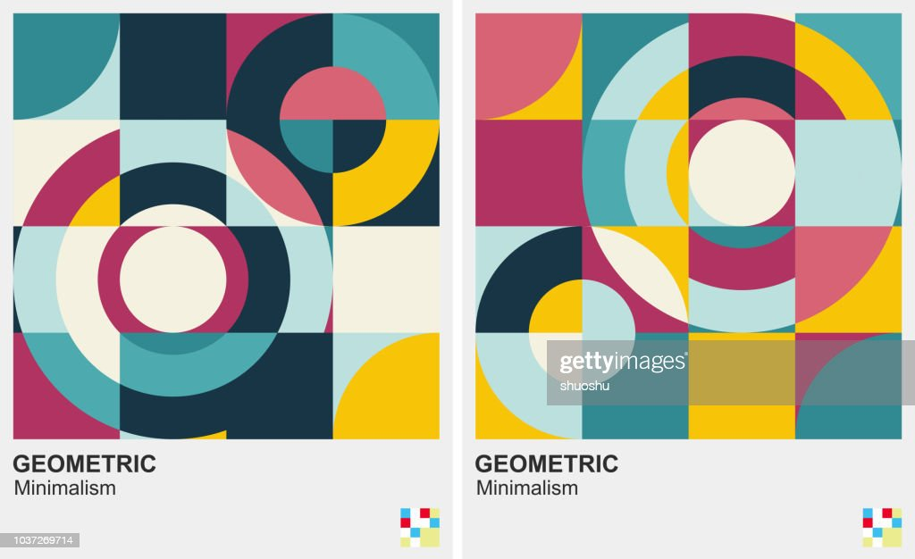 cerchio modello minimalismo sfondo : Illustrazione stock