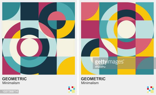 illustrazioni stock, clip art, cartoni animati e icone di tendenza di circle pattern minimalism background - forma geometrica