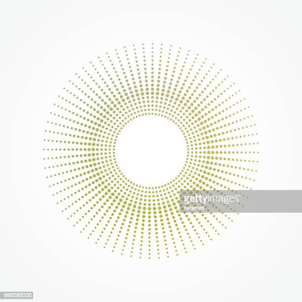 Cirkel polka dots vector patroon
