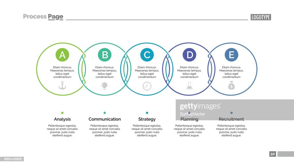 Circle Process Chart Slide Template Vector Art  Getty Images