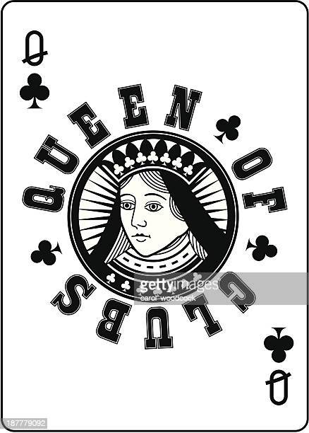 Circle Queen of Clubs