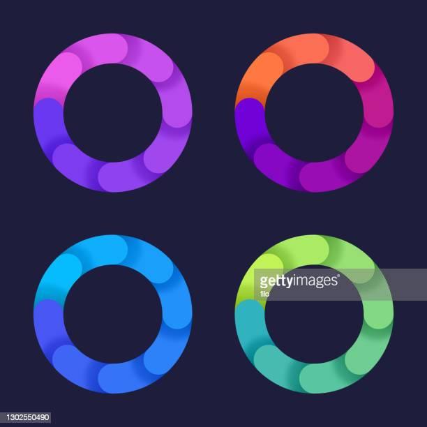 円回転グラデーションのデザイン要素 - 回転する点のイラスト素材/クリップアート素材/マンガ素材/アイコン素材