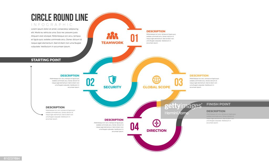 Circle Round Line Infographic