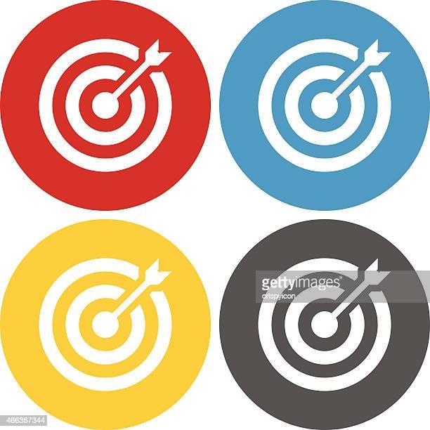 Kreis Serie Ziel Symbol