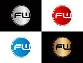FW Circle shape Letter Design