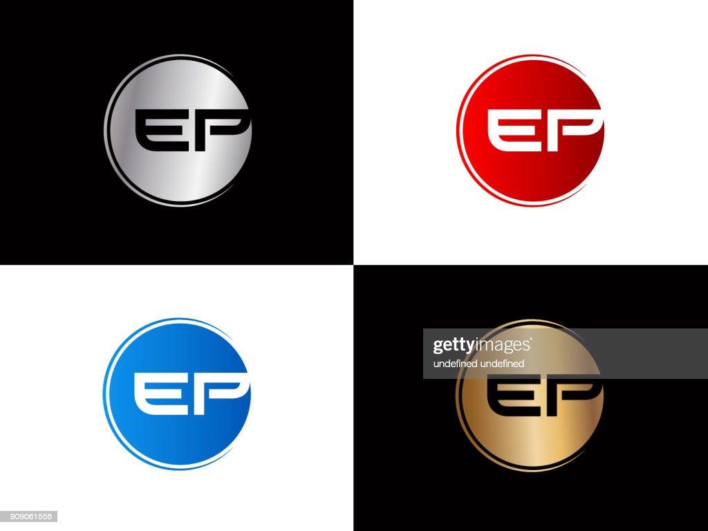 EP Circle shape Letter Design