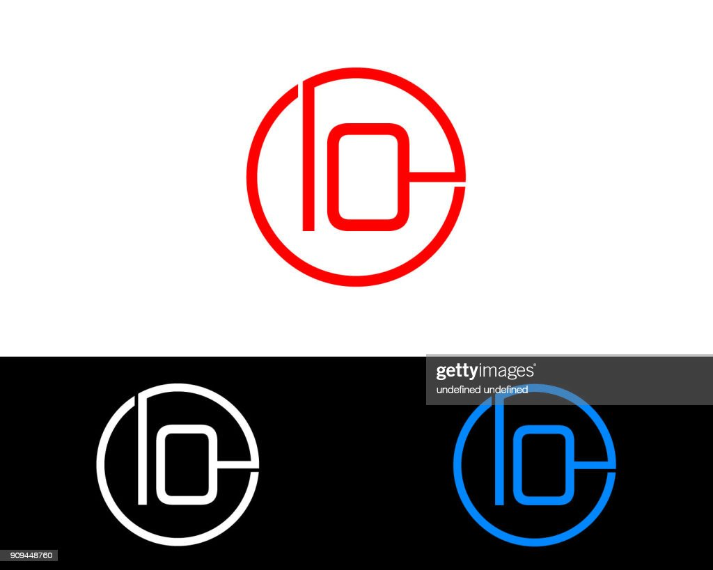 IO circle shape Letter Design