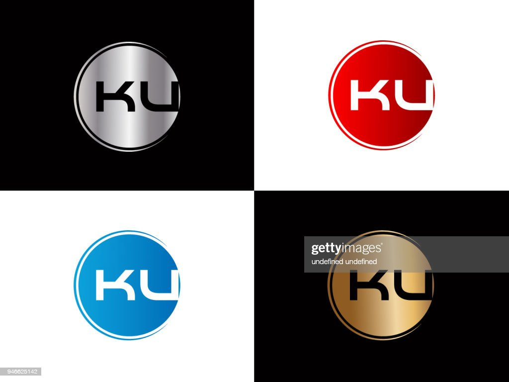 KU circle Shape Letter Design