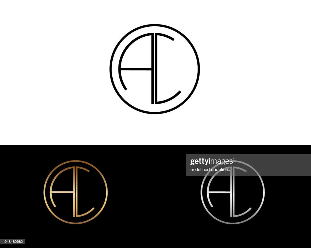 AC Circle Shape Letter Design