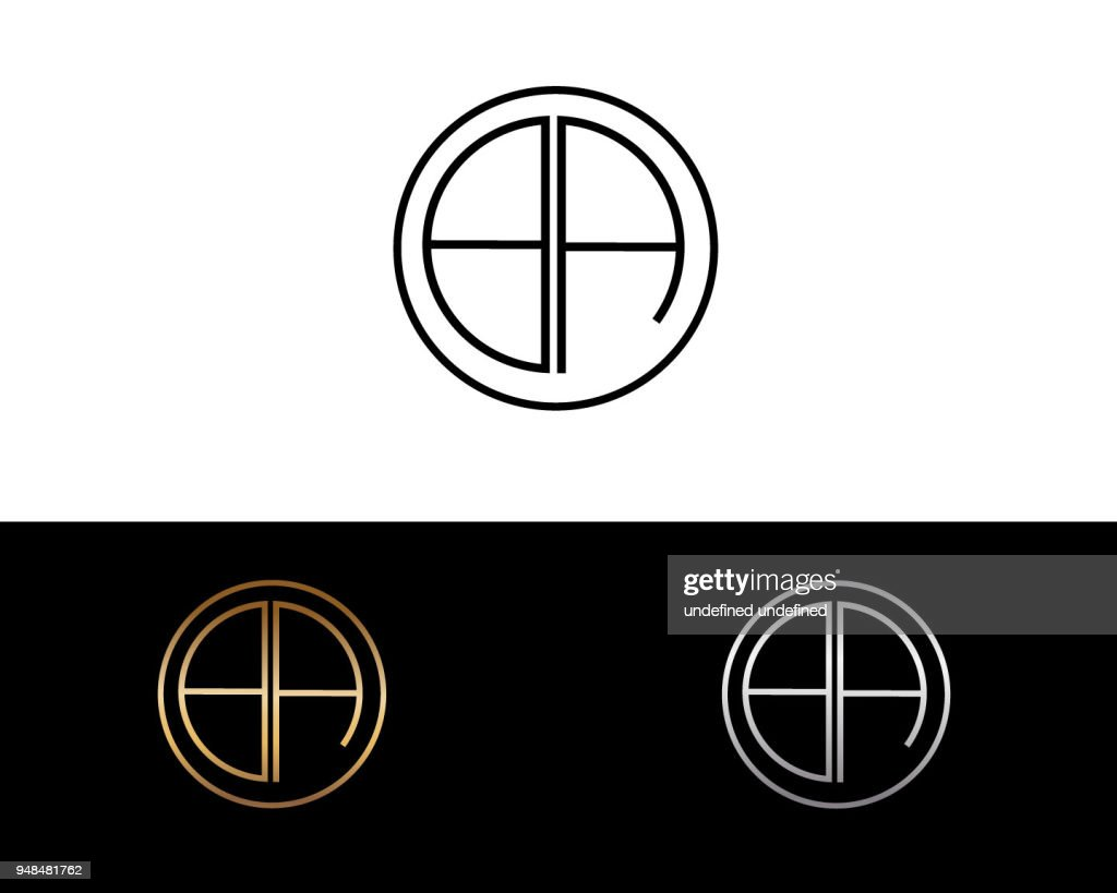 BA Circle Shape Letter Design