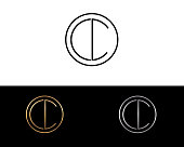 CC Circle Shape Letter Design