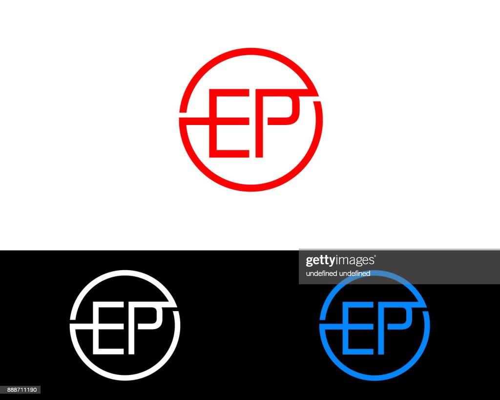 EP Circle Shape Letter Logo Design