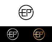 EP Circle Shape Letter Logo Design