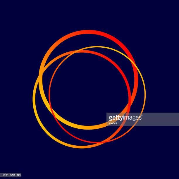 ilustraciones, imágenes clip art, dibujos animados e iconos de stock de símbolo de forma de círculo - cuadrado composición