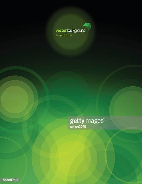 circle shape technology abstract background - green background stock illustrations, clip art, cartoons, & icons