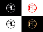 PD Circle Shape vector design