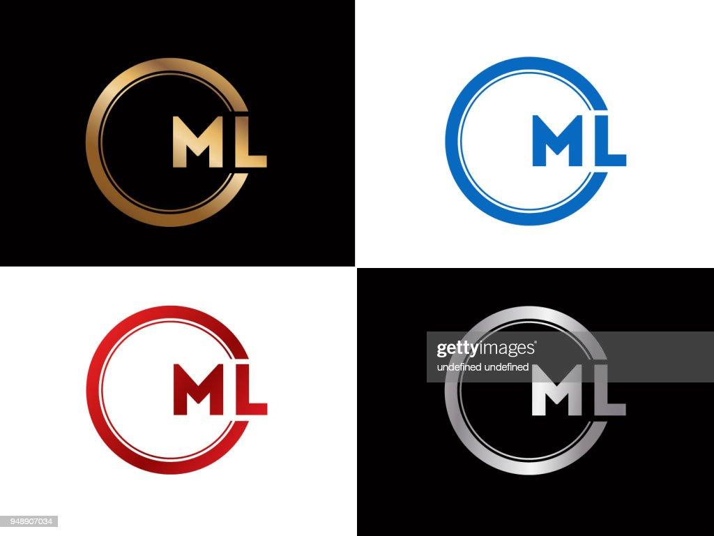 ML circle shape vector design