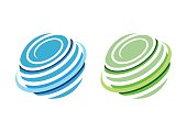circle sphere global logo,whirlpool elements icon symbol vector design