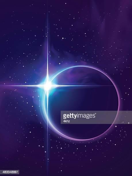 Circle-Sterne-Frame Eclipse über Field Of Stars