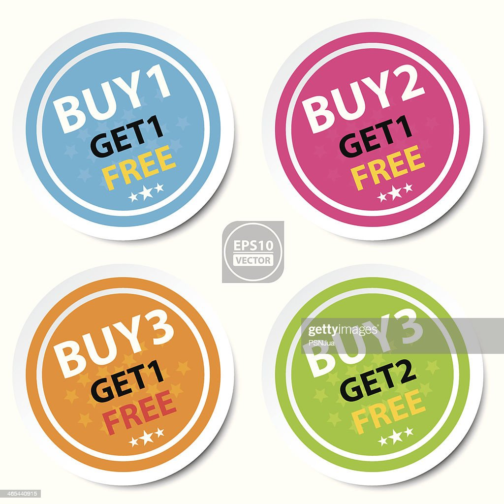 Circle Sticker For Marketing Campaign.