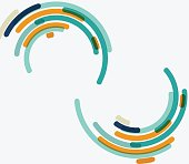 circle stripe background