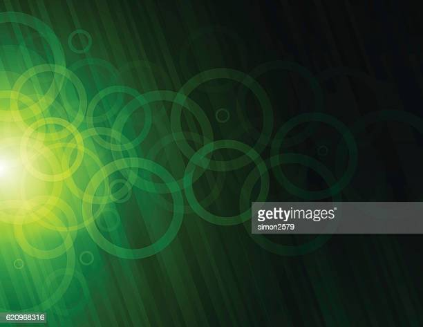 circles abstract background - green background stock illustrations, clip art, cartoons, & icons