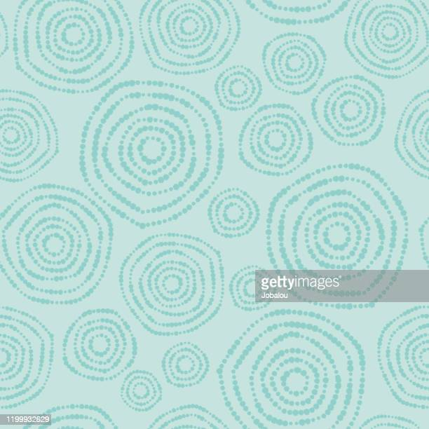 circles nature seamless background pattern - floral pattern stock illustrations