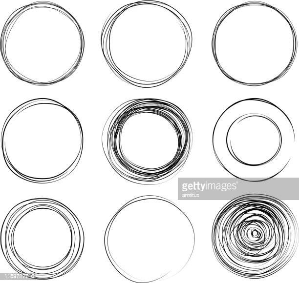 circles - sketch stock illustrations