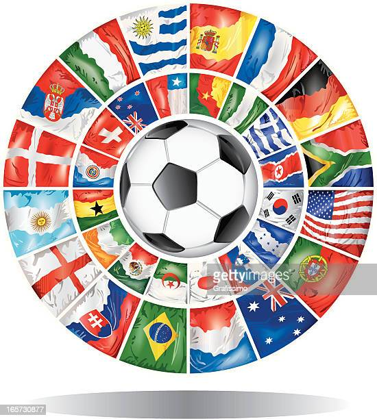 Circles with participants of world soccer championship 2010