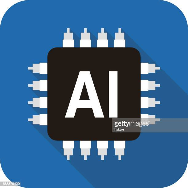 Circuit board, Artificial intelligence concept, vector illustration
