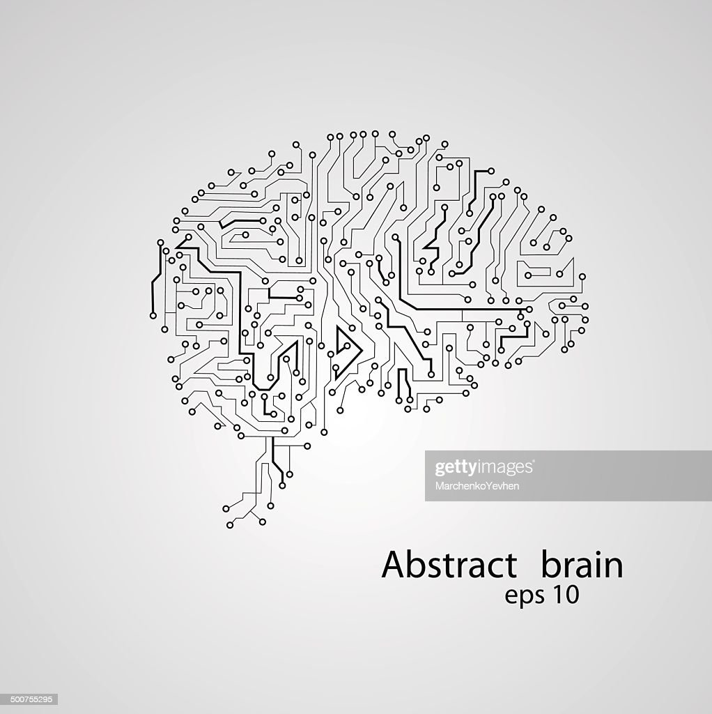 Circuit Board Brain Eps 10 Vector Art Getty Images Diagram